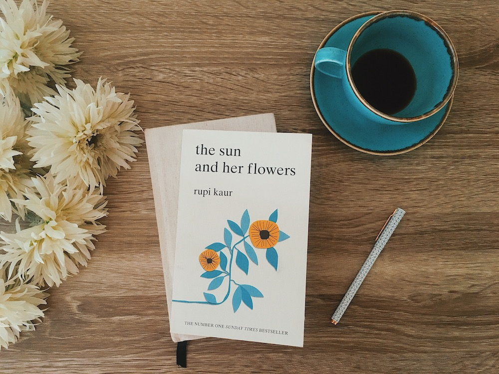 Rupi Kaur lovily blog the sun and her flowers